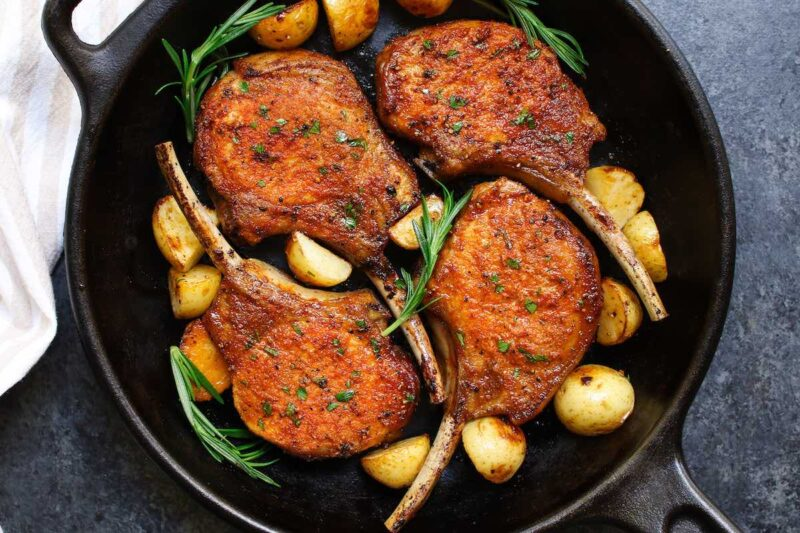 Tips for cooking pork chops on top of stove