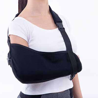 Wearing an arm sling 4 compressor