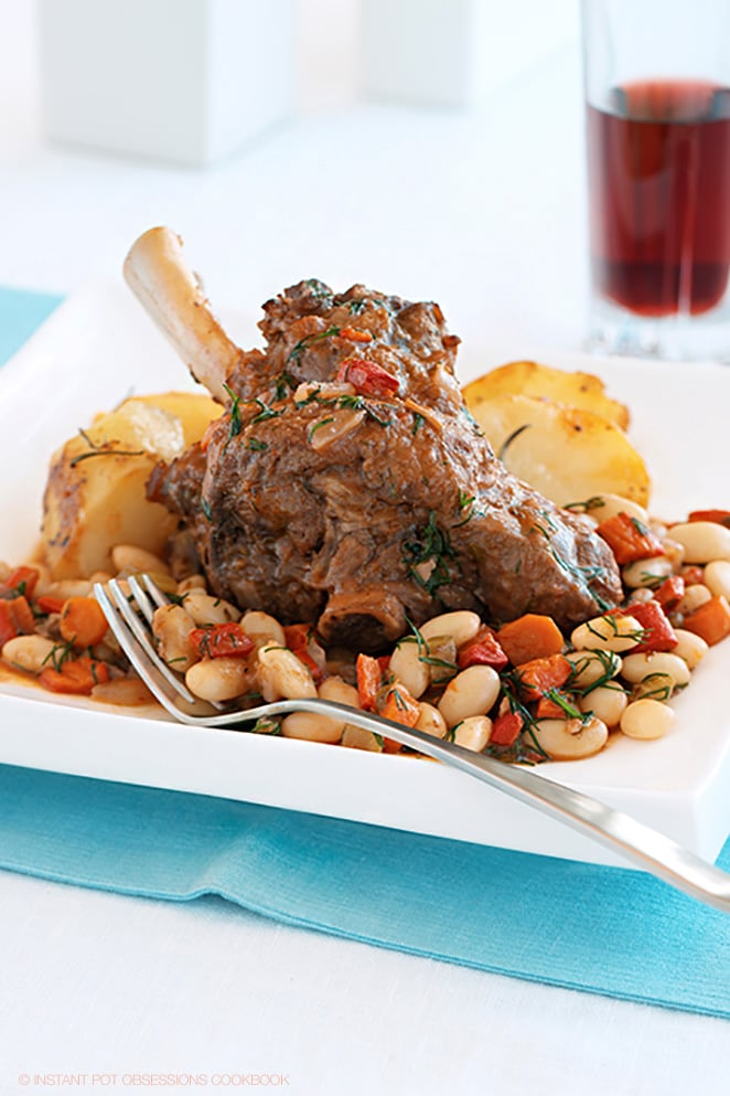Lamb shanks instant pot with white beans