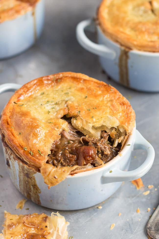 How to make leftover beef stew into pie