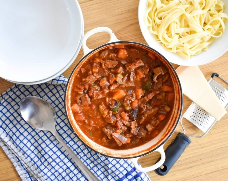 How to make leftover beef stew ragu