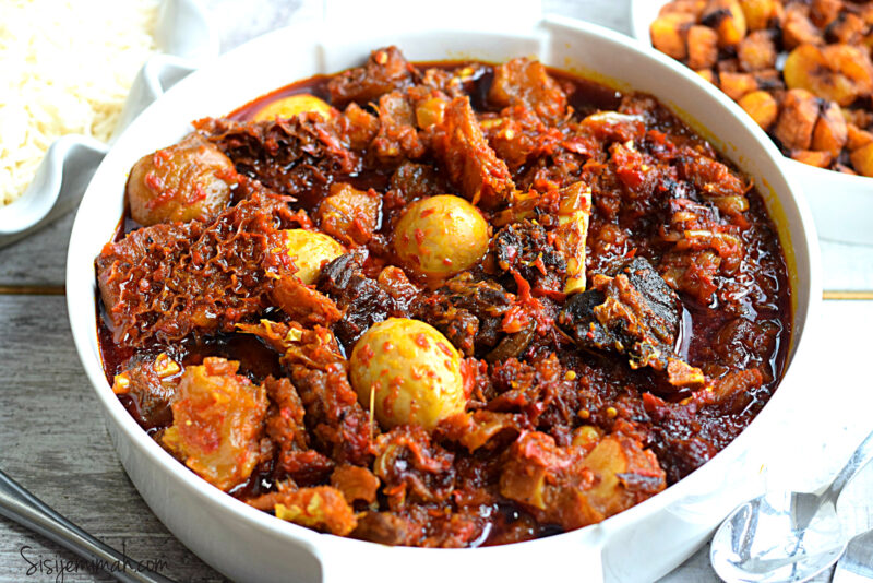 Nigerian beef stew recipe with palm oil