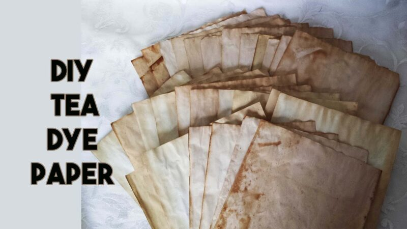 How to tea stain paper without an oven