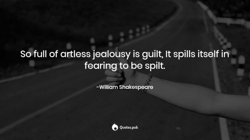 Jealousy is a disease quote