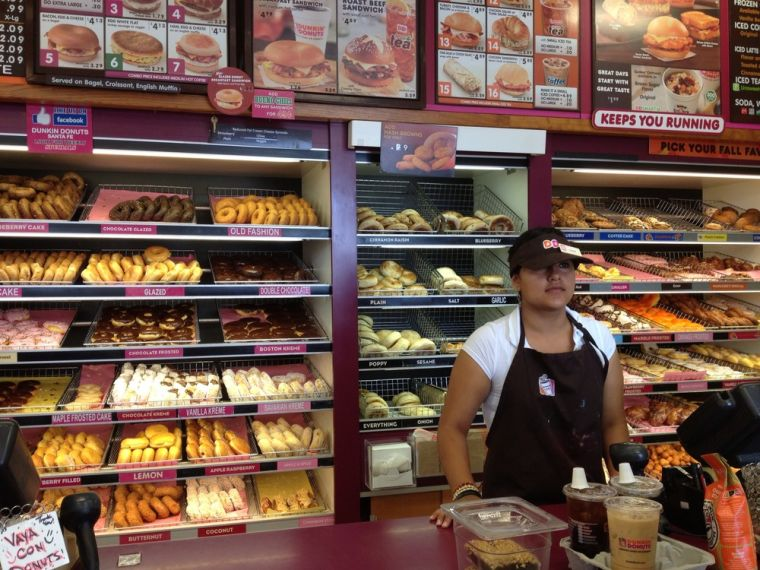 How old do you have to be to work at Dunkin Donuts?