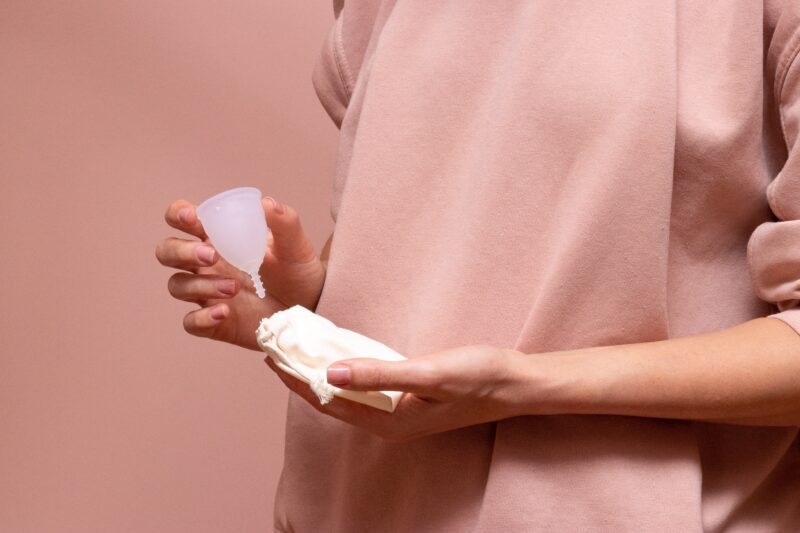 How to sterilize menstrual cup in microwave?