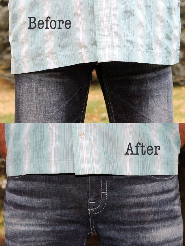 How to make a shirt shorter without sewing