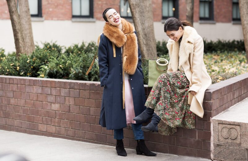 what to wear over a formal dress in the winter