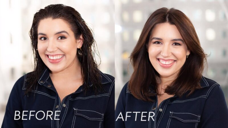 how to do a blowout on short natural hair