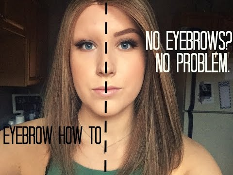 How to draw on eyebrows with no hair for beginners